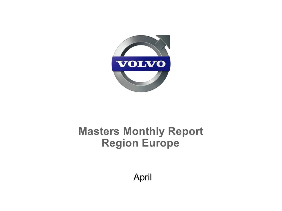 Masters Monthly Report Region Europe April