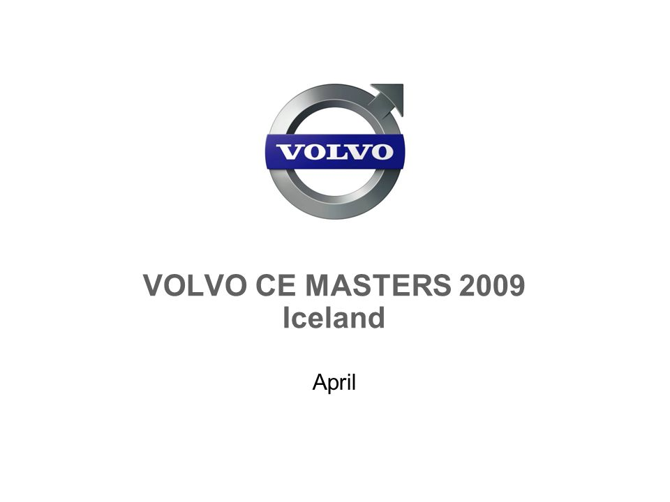 VOLVO CE MASTERS 2009 Iceland April