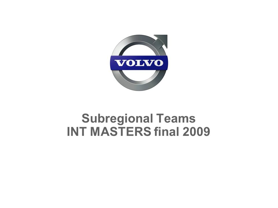 Subregional Teams INT MASTERS final 2009
