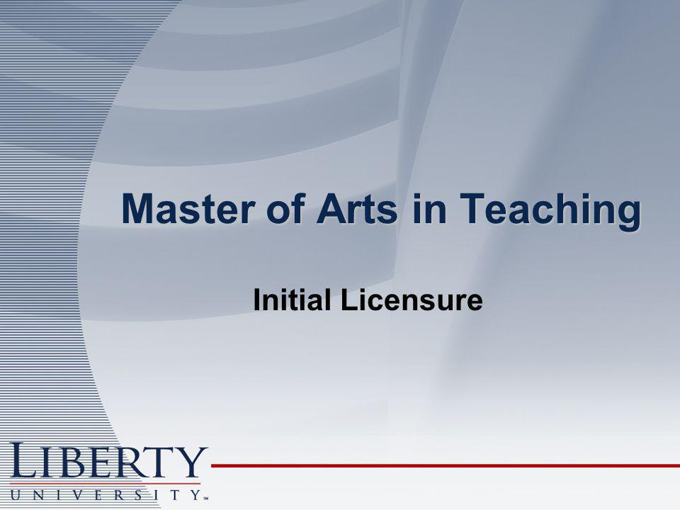 Master of Arts in Teaching Initial Licensure