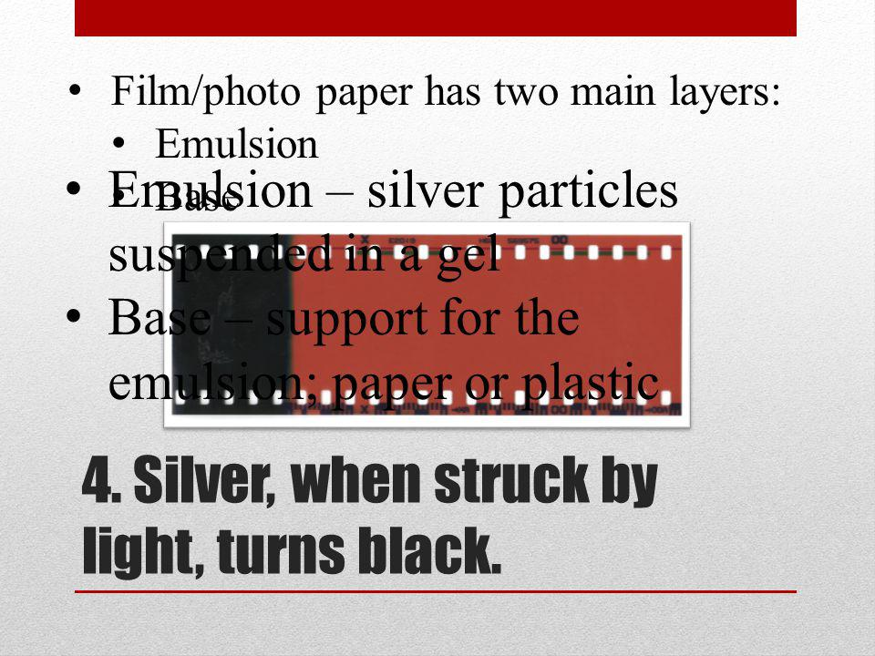 4. Silver, when struck by light, turns black.