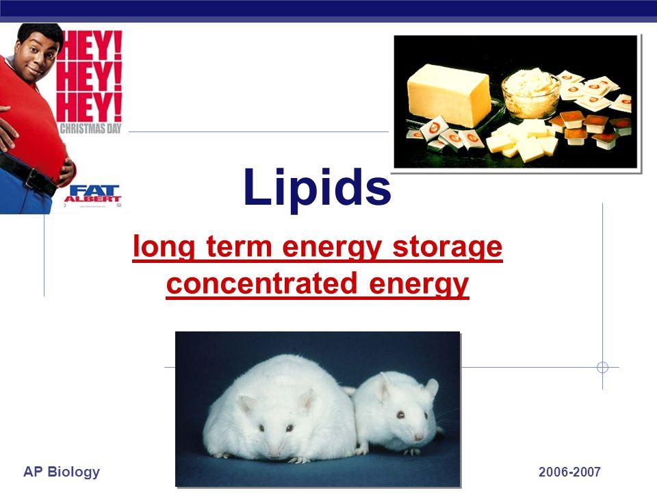 AP Biology Lipids: Fats & Oils
