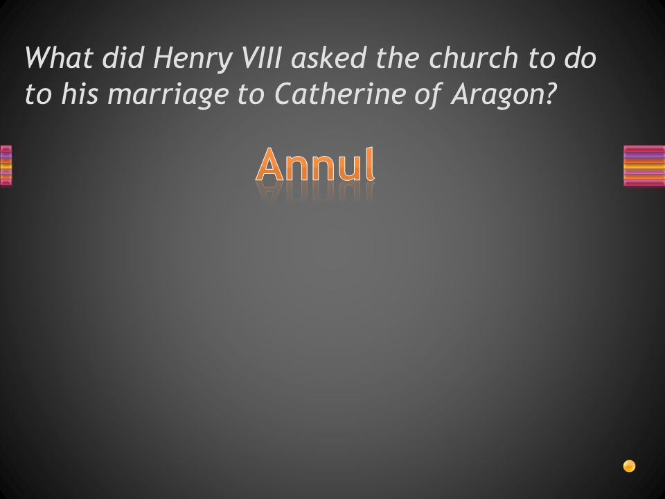 What did Henry VIII asked the church to do to his marriage to Catherine of Aragon