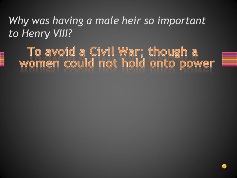 Why was having a male heir so important to Henry VIII