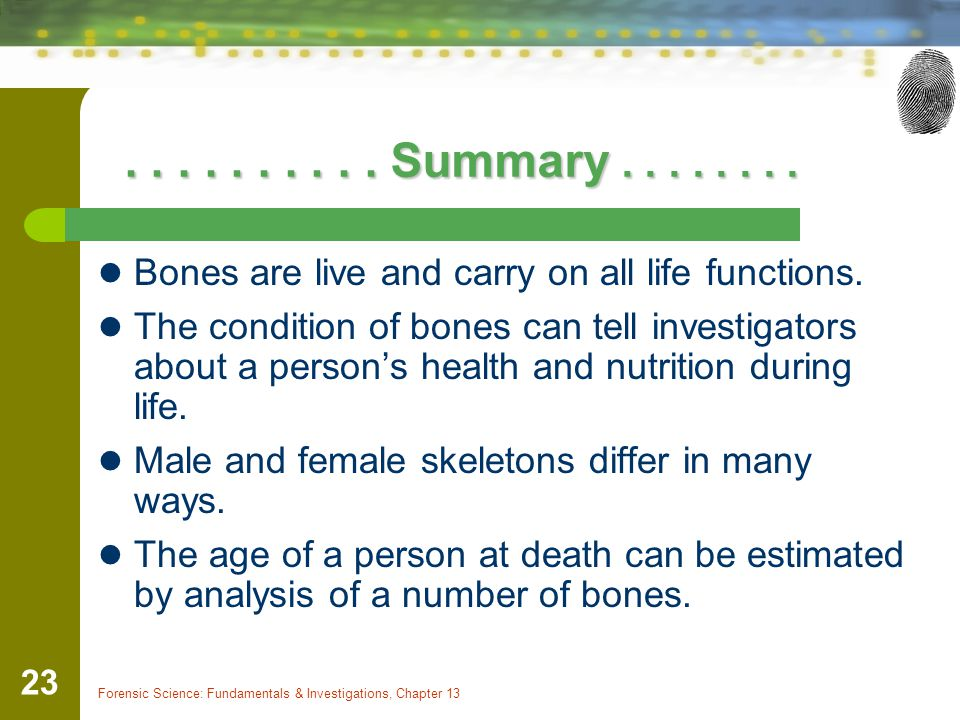 Forensic Science: Fundamentals & Investigations, Chapter 13 23..........