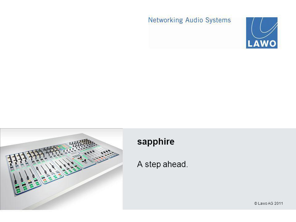 © Lawo AG 2011 sapphire A step ahead.