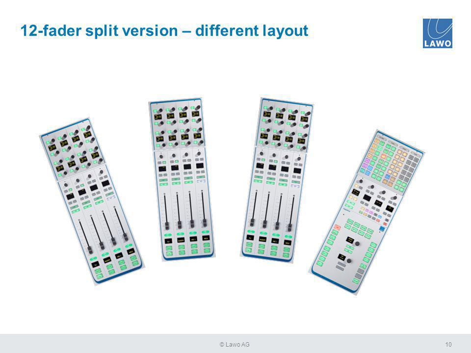 10© Lawo AG 12-fader split version – different layout