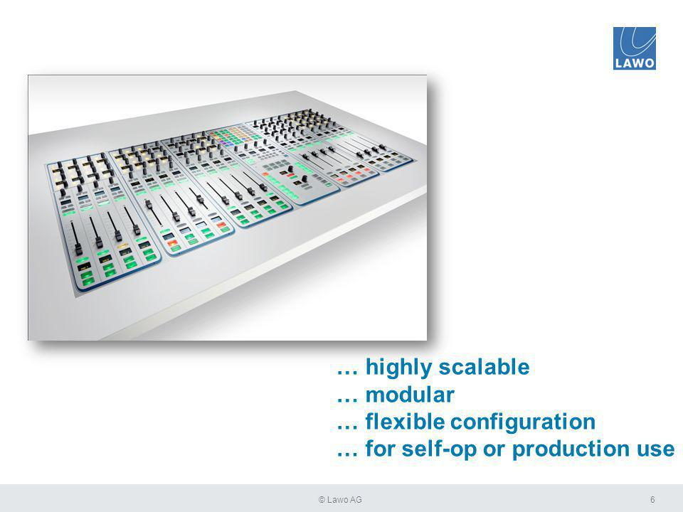 7© Lawo AG … and optional extension-modules. With up to 60 motor faders …