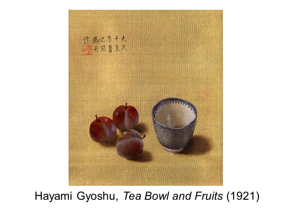 Hayami Gyoshu, Tea Bowl and Fruits (1921)