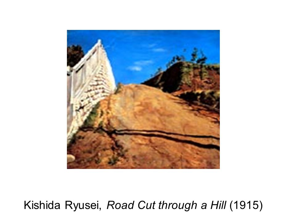 Kishida Ryusei, Road Cut through a Hill (1915)