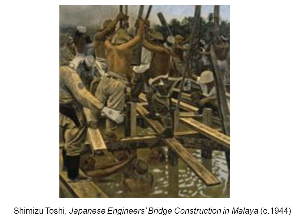 Shimizu Toshi, Japanese Engineers' Bridge Construction in Malaya (c.1944)