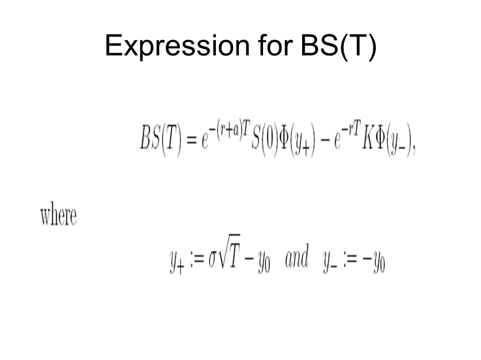 Expression for BS(T)
