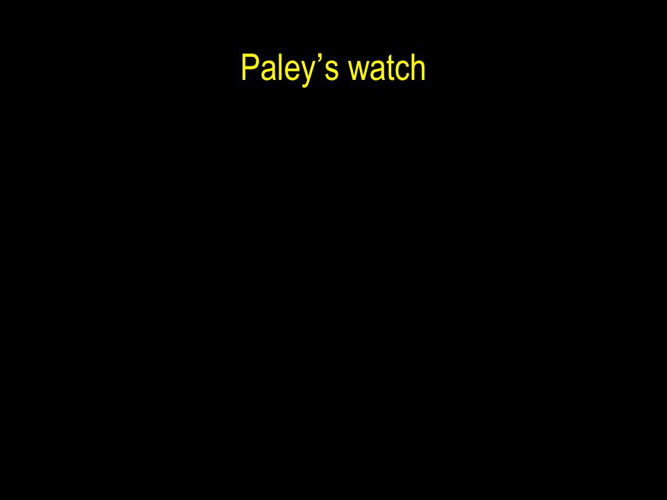Paley ' s watch