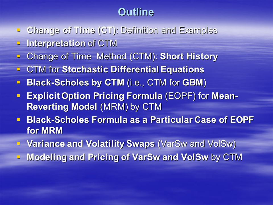 European Call Option for MRM