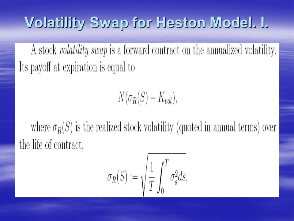 Volatility Swap for Heston Model. I.