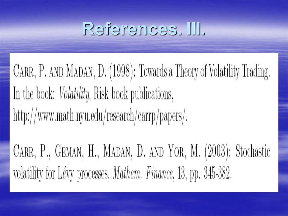 References. III.