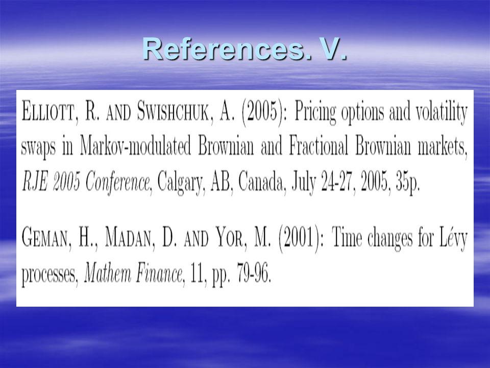 References. V.