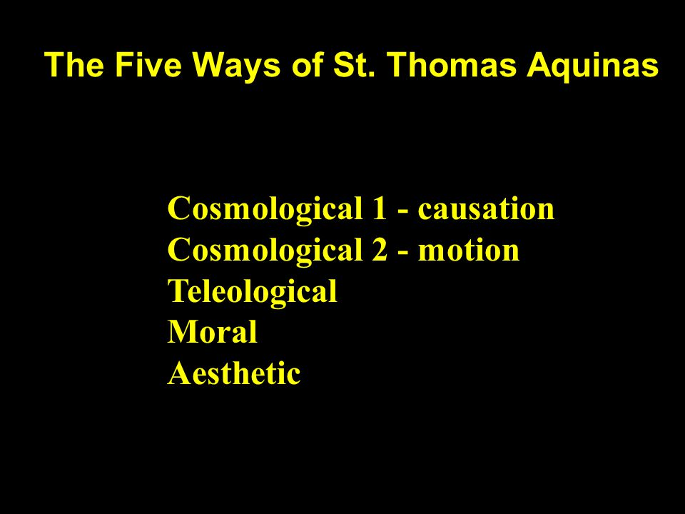 The Five Ways of St.