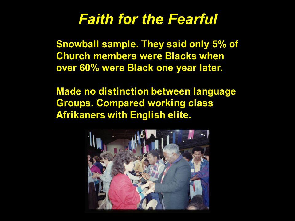 Faith for the Fearful Snowball sample.