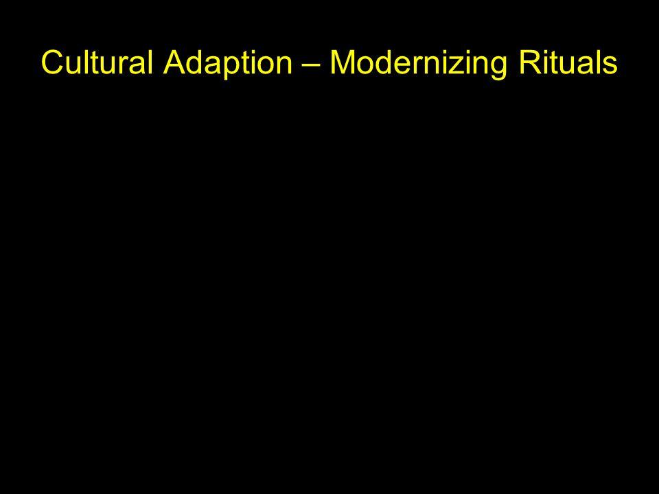 Cultural Adaption – Modernizing Rituals