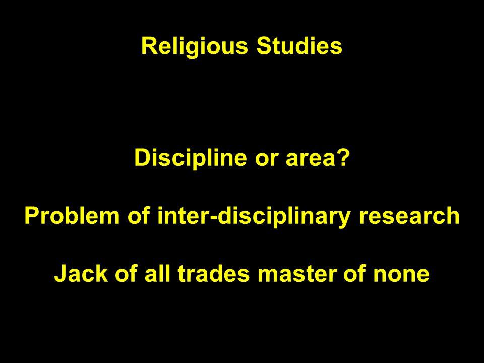 Religious Studies Discipline or area.
