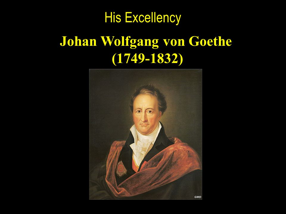 His Excellency Johan Wolfgang von Goethe (1749-1832)