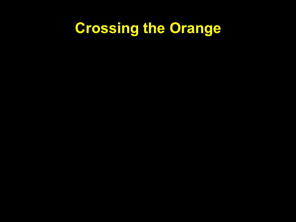 Crossing the Orange