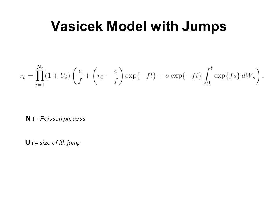 Vasicek Model with Jumps N t - Poisson process U i – size of ith jump