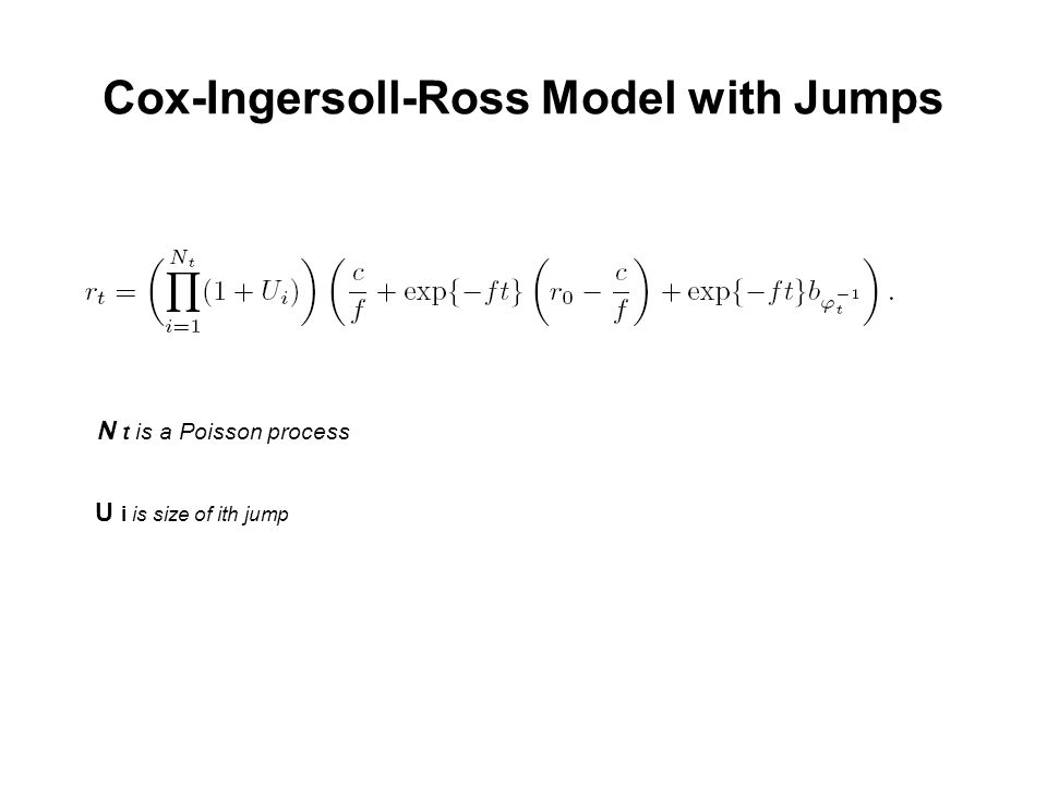 Cox-Ingersoll-Ross Model with Jumps N t is a Poisson process U i is size of ith jump
