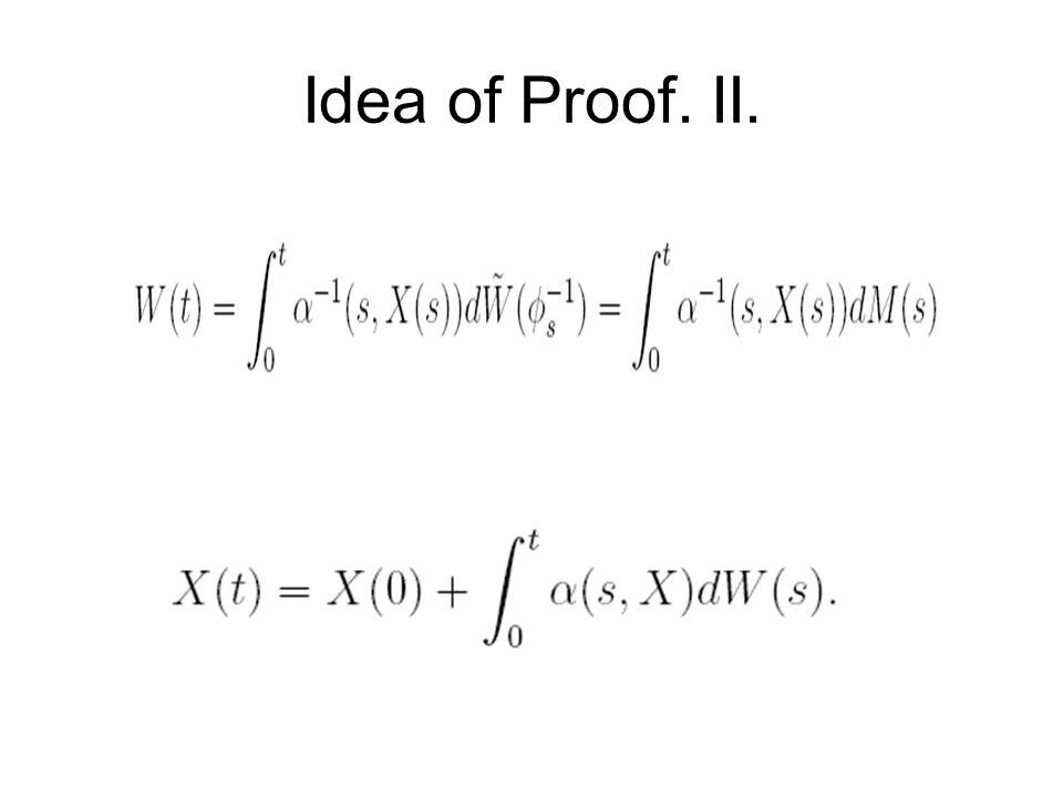 Idea of Proof. II.