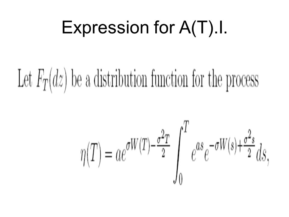 Expression for A(T).I.