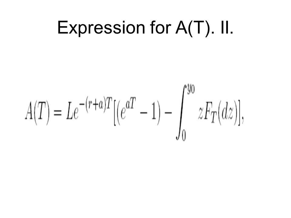 Expression for A(T). II.