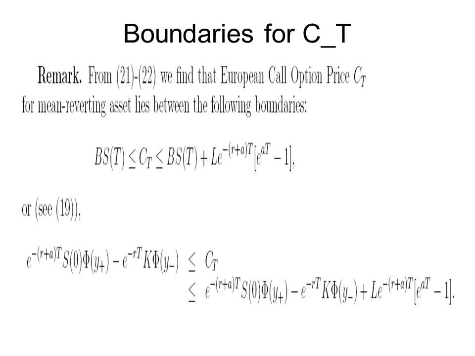 Boundaries for C_T