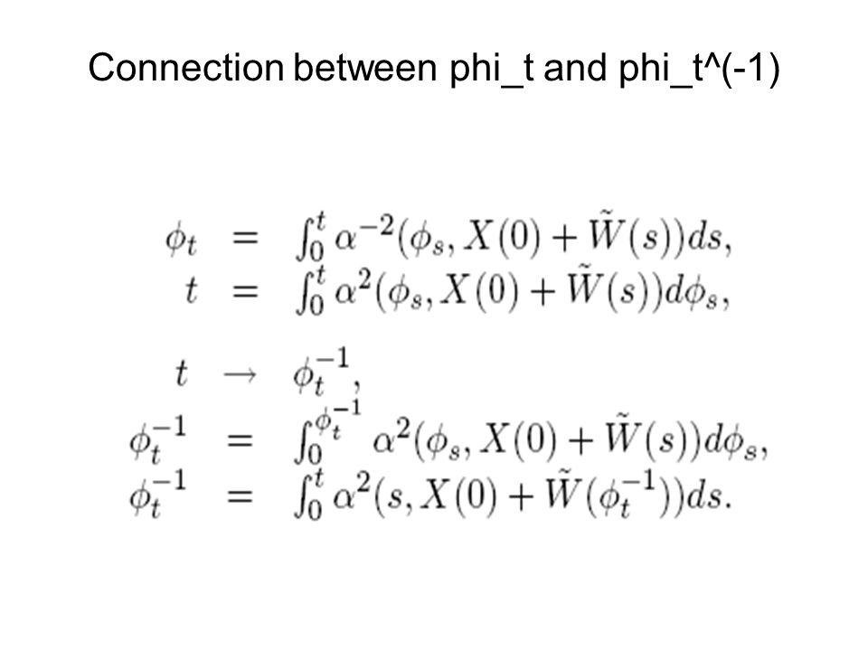 Connection between phi_t and phi_t^(-1)