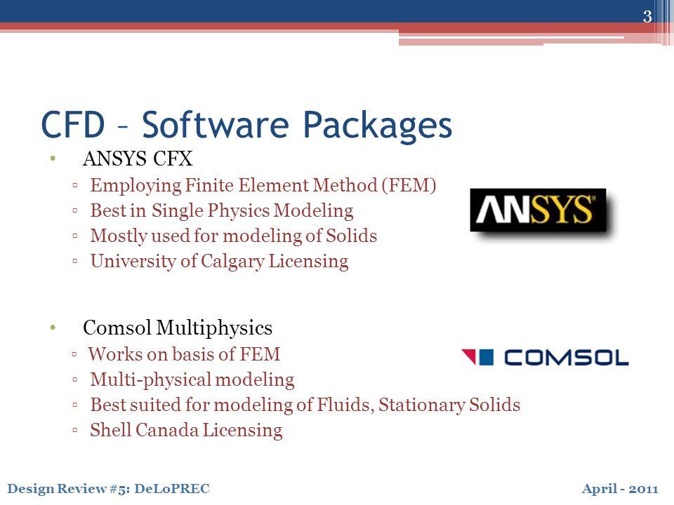April - 2011Design Review #5: DeLoPREC CFD – Unsteady Simulations 14