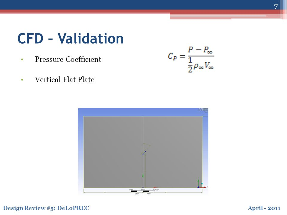 April - 2011Design Review #5: DeLoPREC CFD – Steady Convergence in CFX 8
