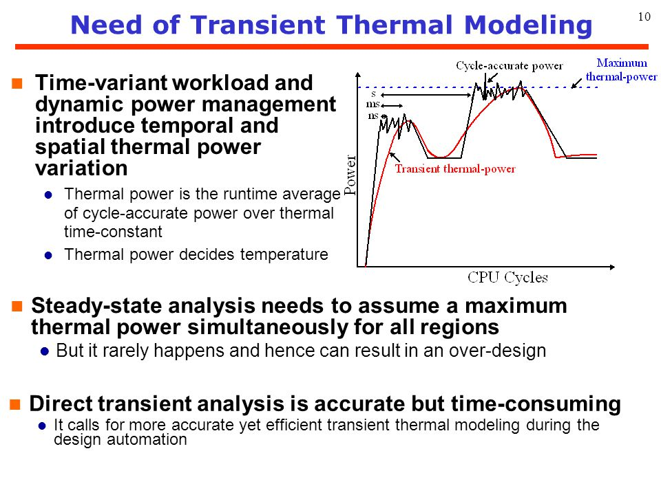 11 Need of Simultaneous Thermal/Power Co-Design n Temperature hotspots usually distribute differently from voltage bounce l A thermal integrity map tends to result in a uniform via stapling pattern l A power integrity map tends to result in a biased via stapling pattern in center n Considering thermal and power integrity separately may also lead to over-design