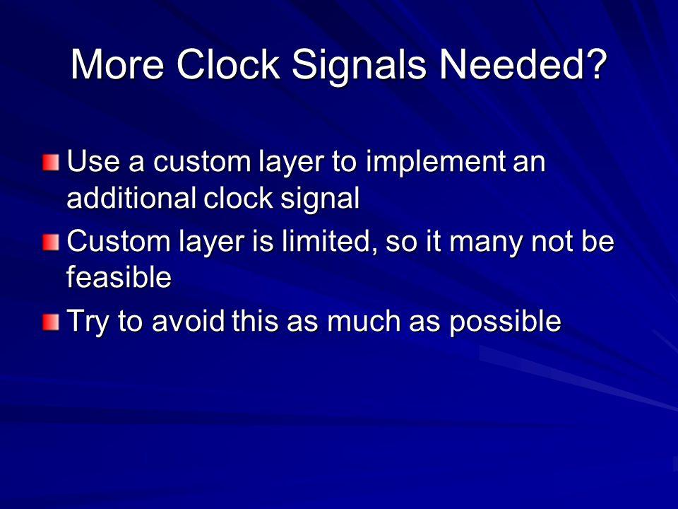 More Clock Signals Needed.