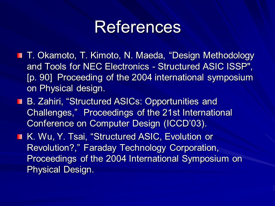 References T.Okamoto, T. Kimoto, N.