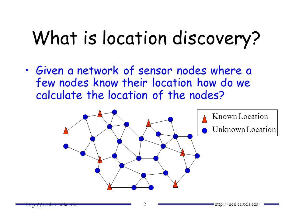 http://nesl.ee.ucla.edu/ http://nesl.ee.ucla.edu 13 Problem Setup Wireless Channel Model Error Distance Representation