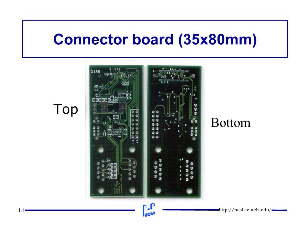 http://nesl.ee.ucla.edu/ 14 Connector board (35x80mm) Top Bottom