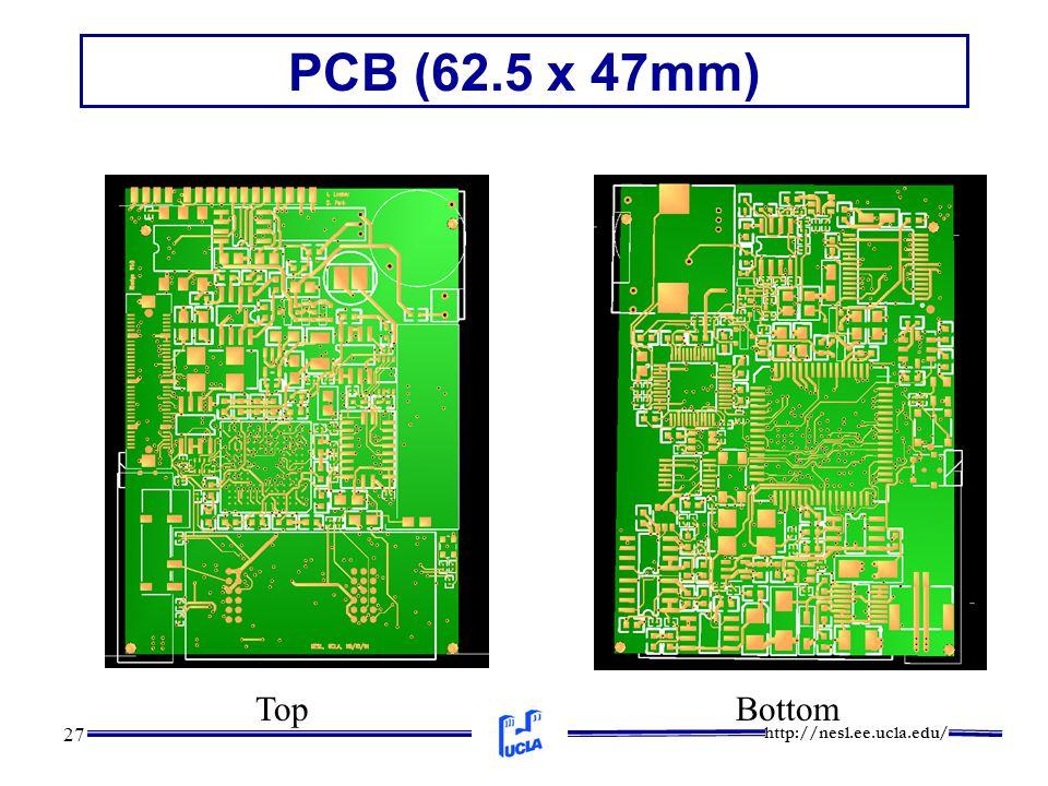 http://nesl.ee.ucla.edu/ 27 PCB (62.5 x 47mm) TopBottom