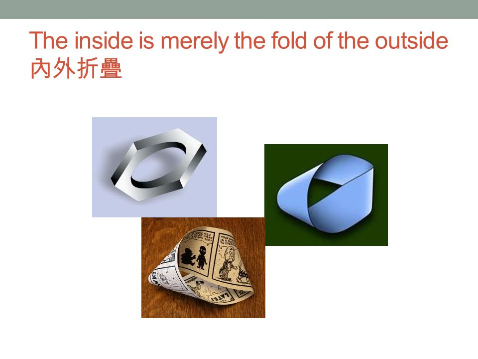 The inside is merely the fold of the outside 內外折疊