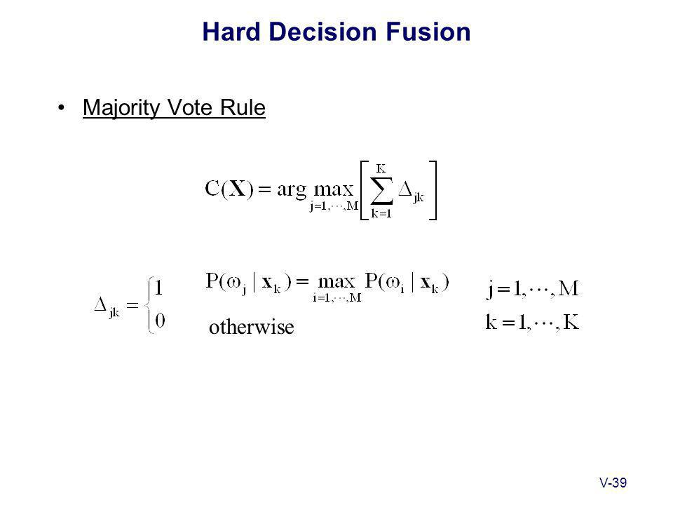 V-39 Hard Decision Fusion Majority Vote Rule otherwise