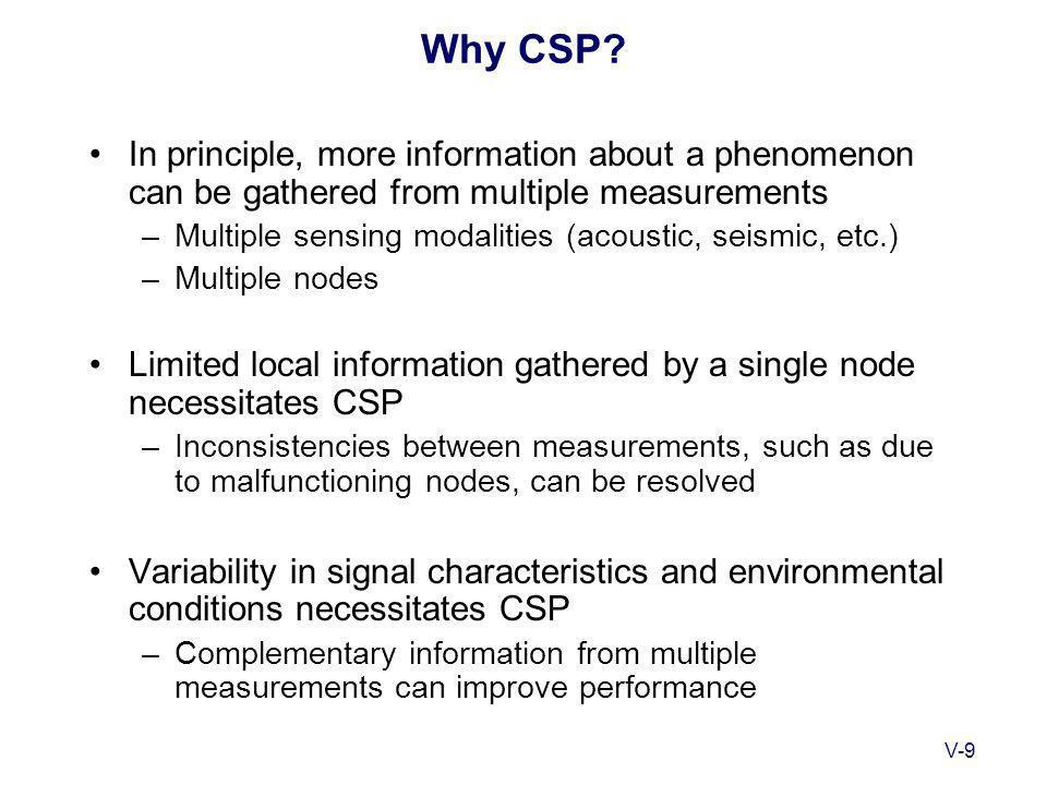 V-9 Why CSP.