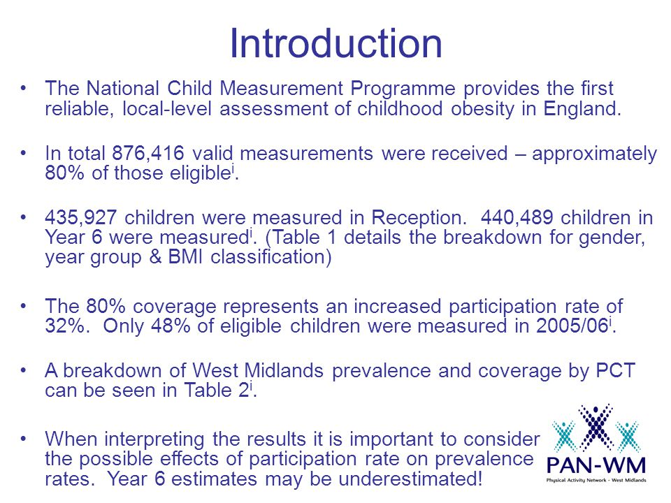 Figures 8 & 9 BMI distributions of children in Reception & Year 6, 2006/07