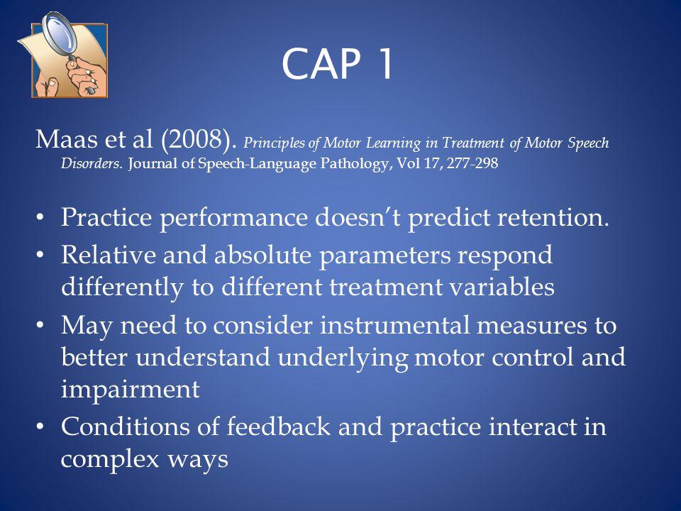 CAP 2 Steinhauer,K.& Grayhack, J. (2000).