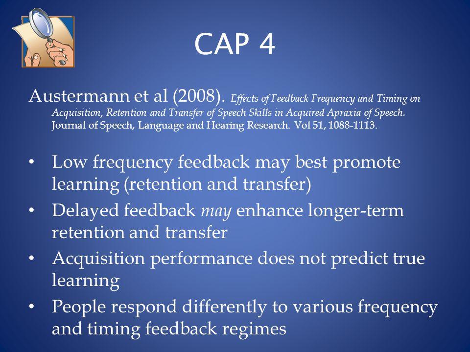 CAP 5 Spielman et al (2007).