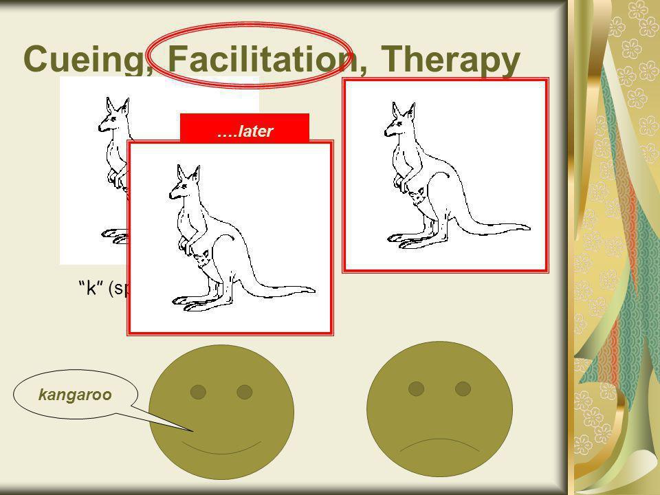 Cueing, Facilitation, Therapy k kangaroo