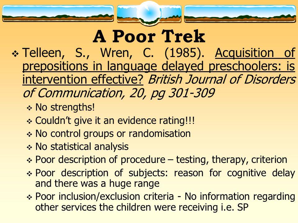 A Poor Trek  Telleen, S., Wren, C. (1985).